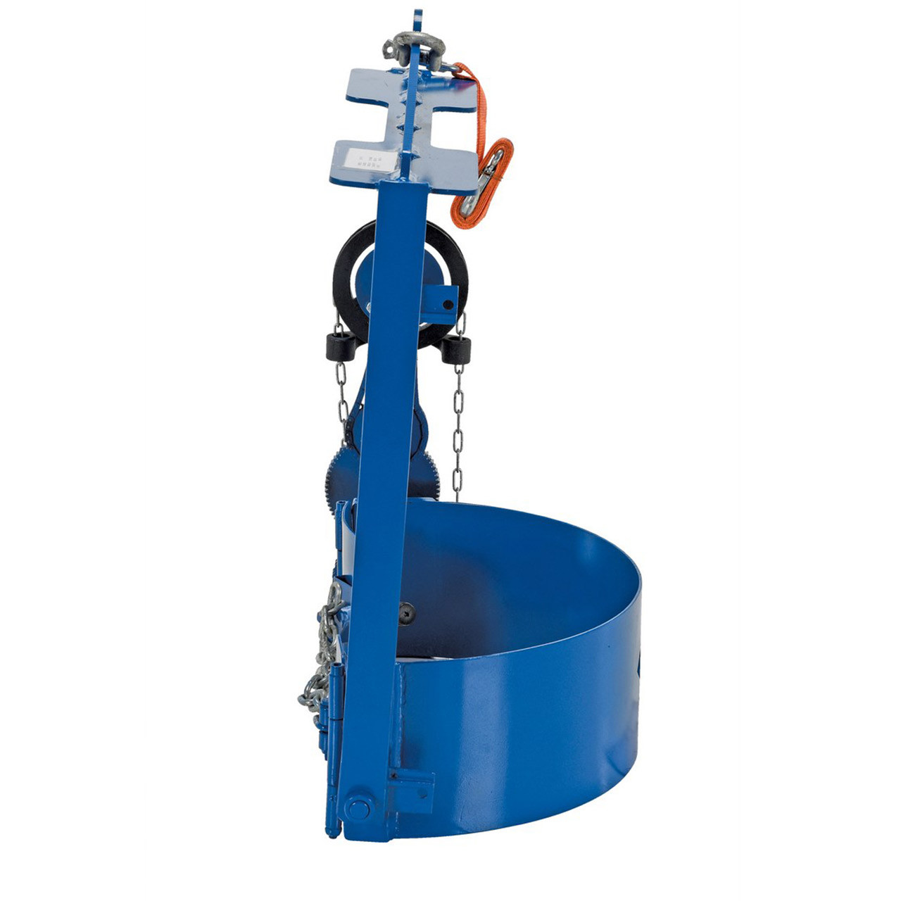 Hoist Mounted Drum Carriers/Rotator Side View