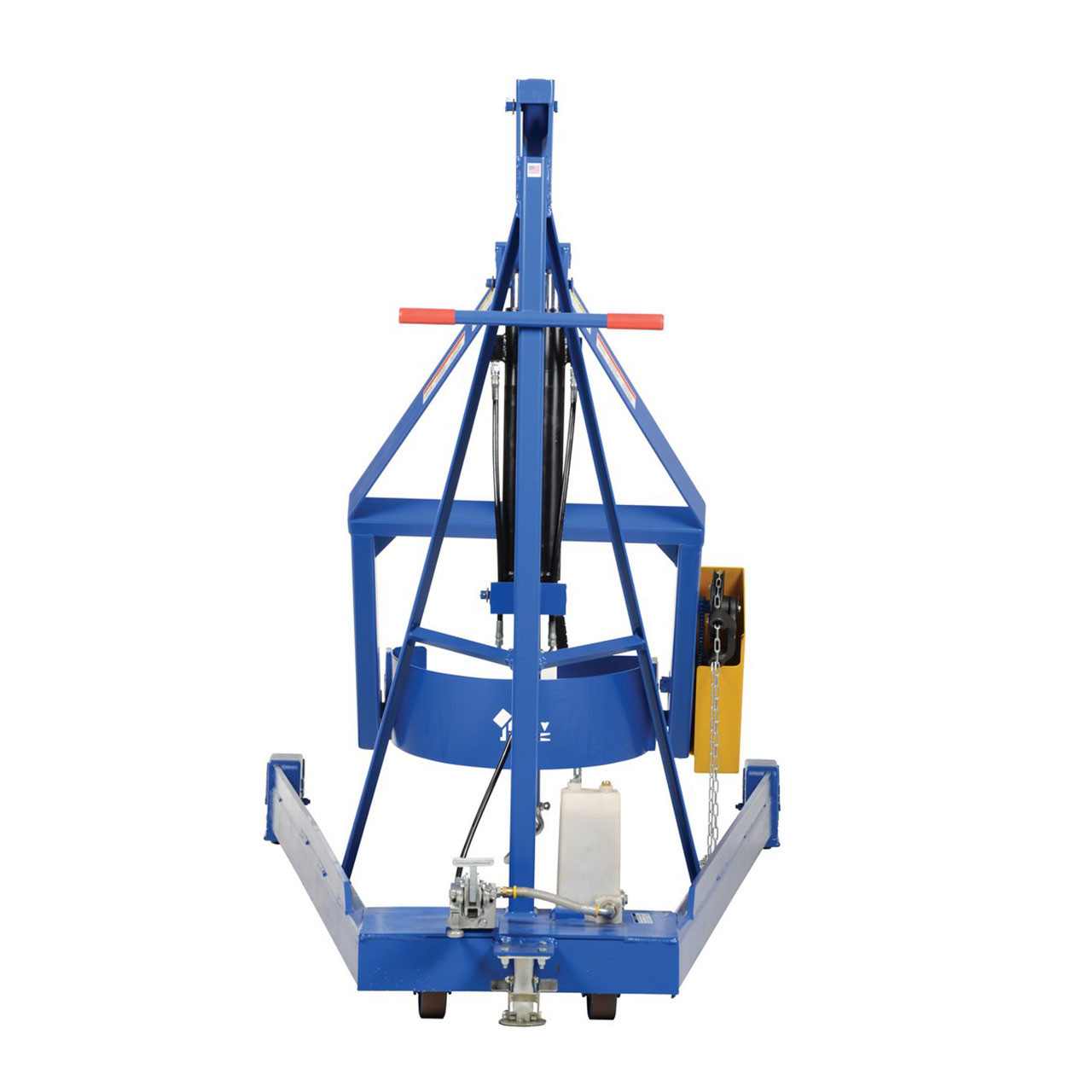 Hydraulic Drum Carrier/Rotator/Booms Rear View