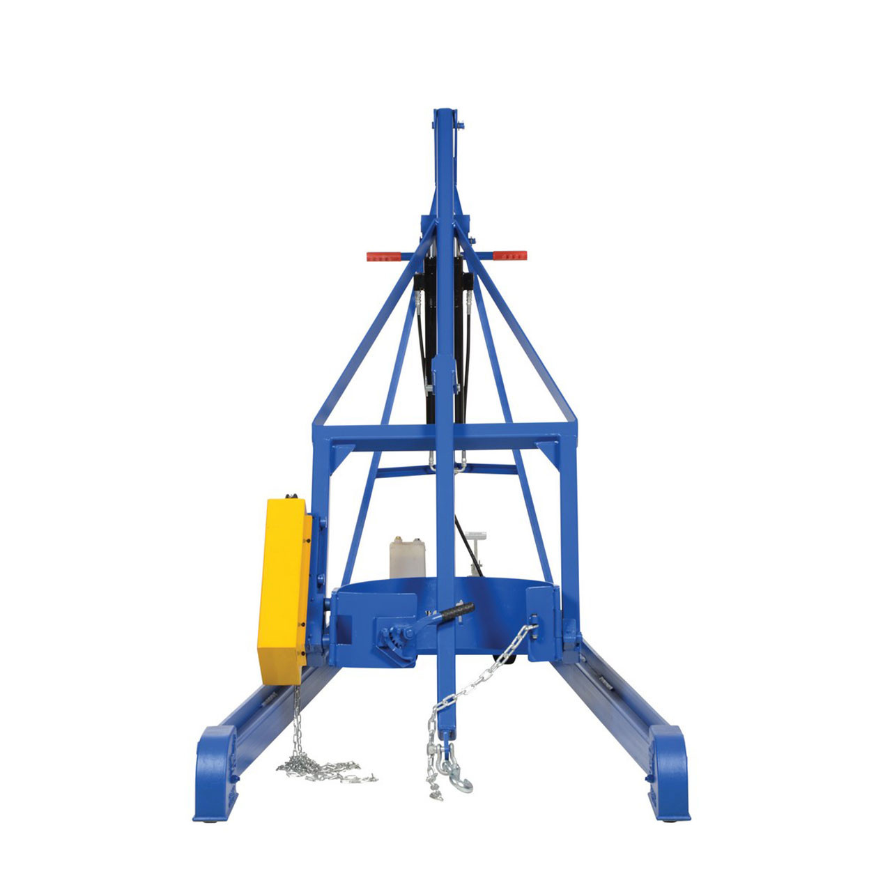 Hydraulic Drum Carrier/Rotator/Booms Front View