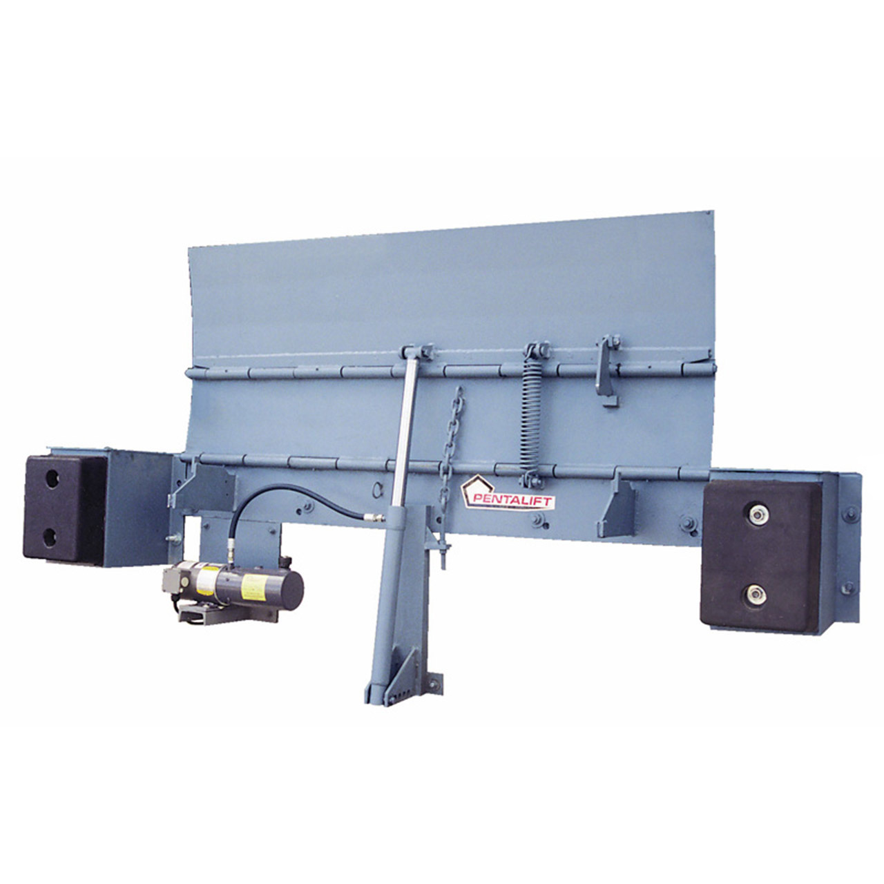 Hydraulic Edge-Of-Dock Levelers Up