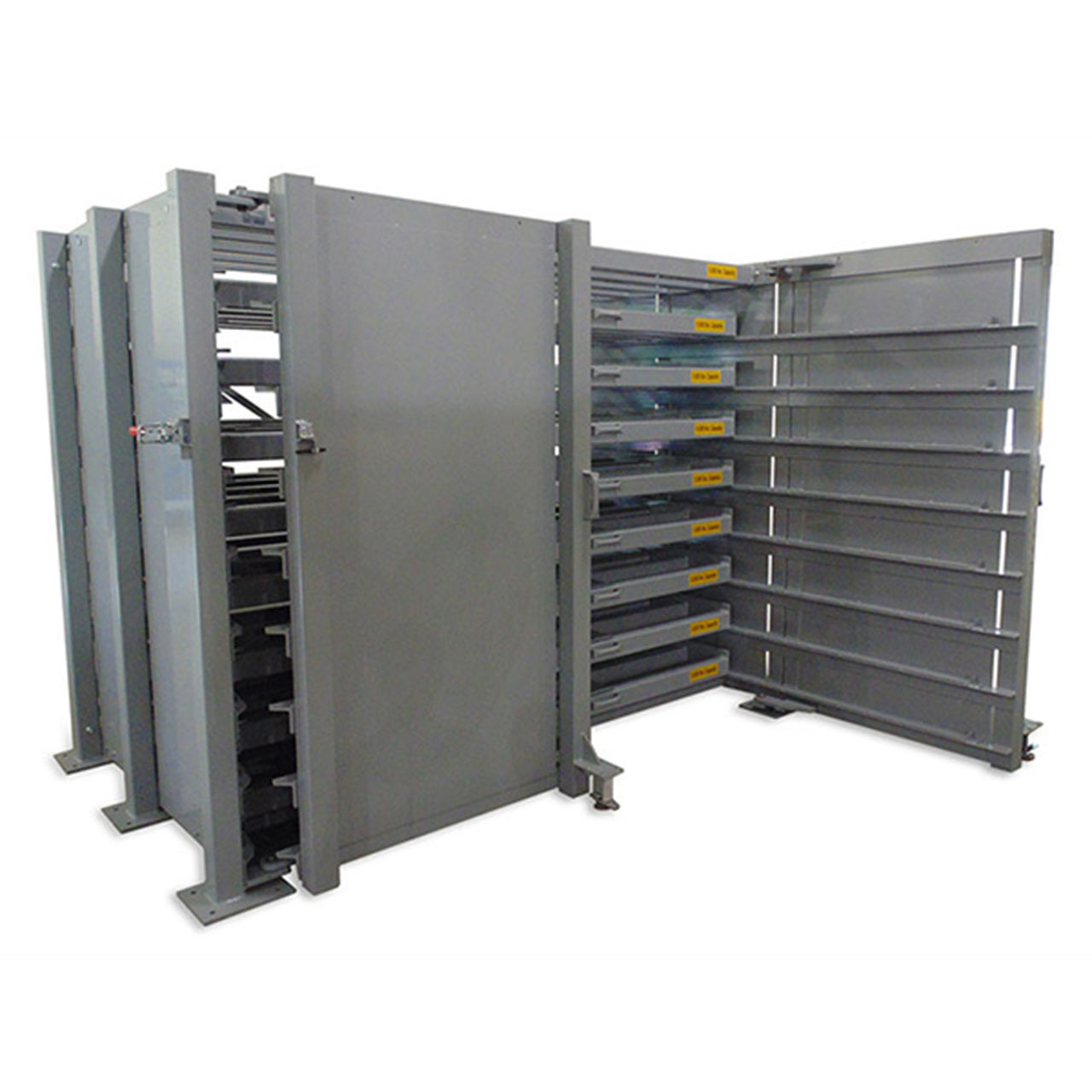Sheetmaster Sheet Metal Storage Rack One Door Open