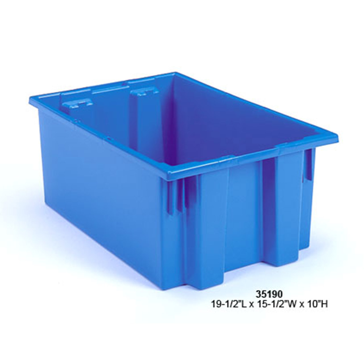 Akro-Mils Nest and Stack Plastic Tote Blue
