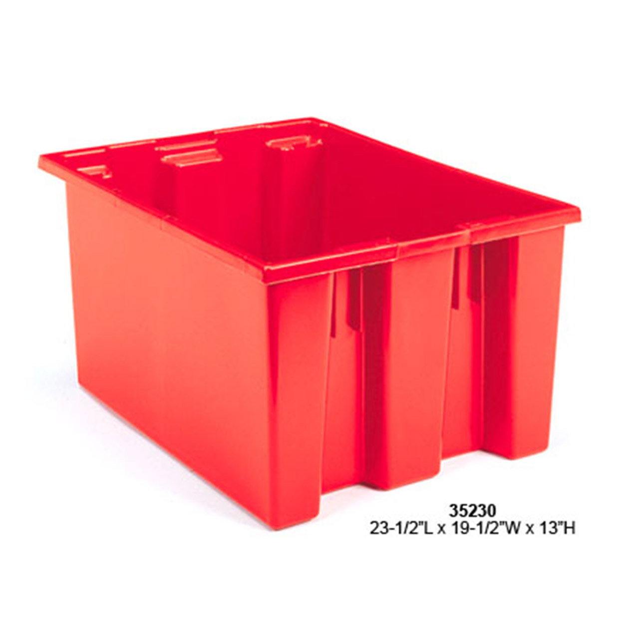 Akro-Mils Nest and Stack Plastic Tote Red