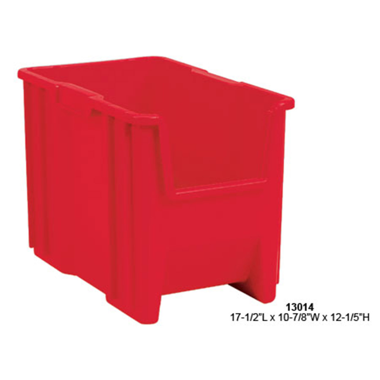 Akro-Mils Stack and Store Plastic Tote Red