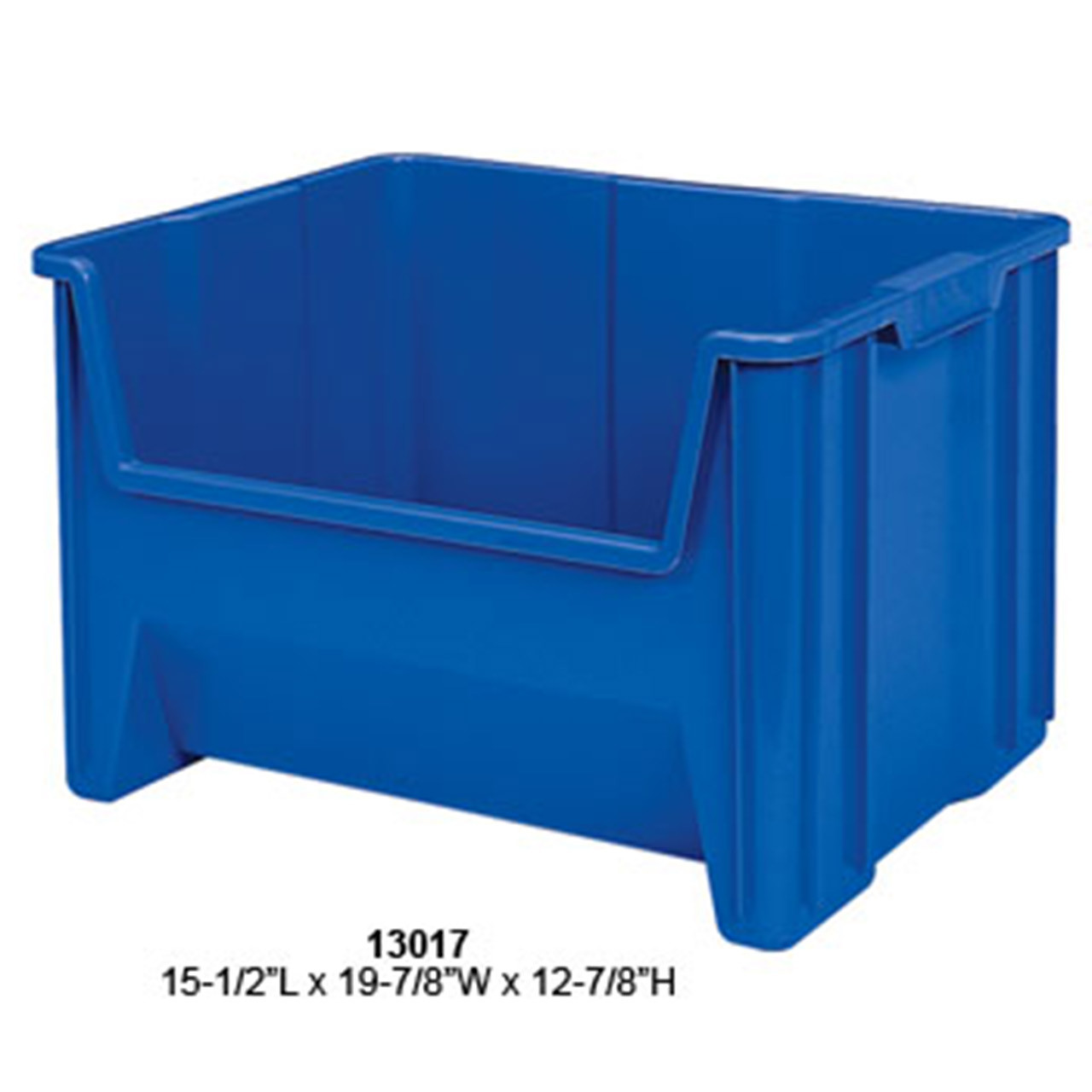 Akro-Mils Stack and Store Plastic Tote Blue