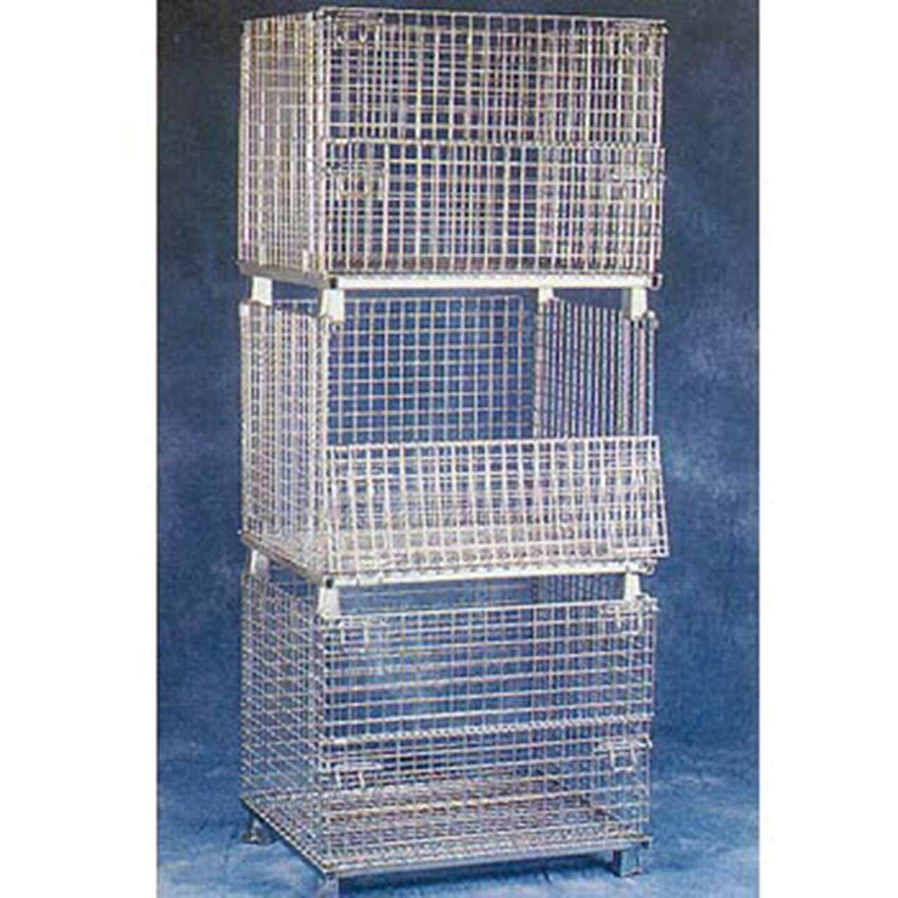 Folding Wire Baskets Stacked