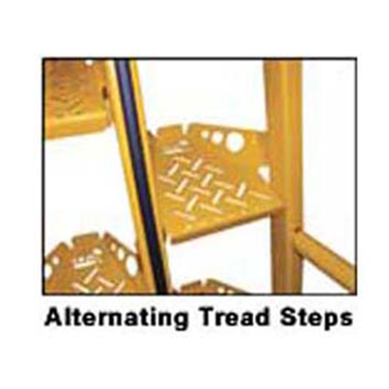 Alternating Tread Stairs Close Up