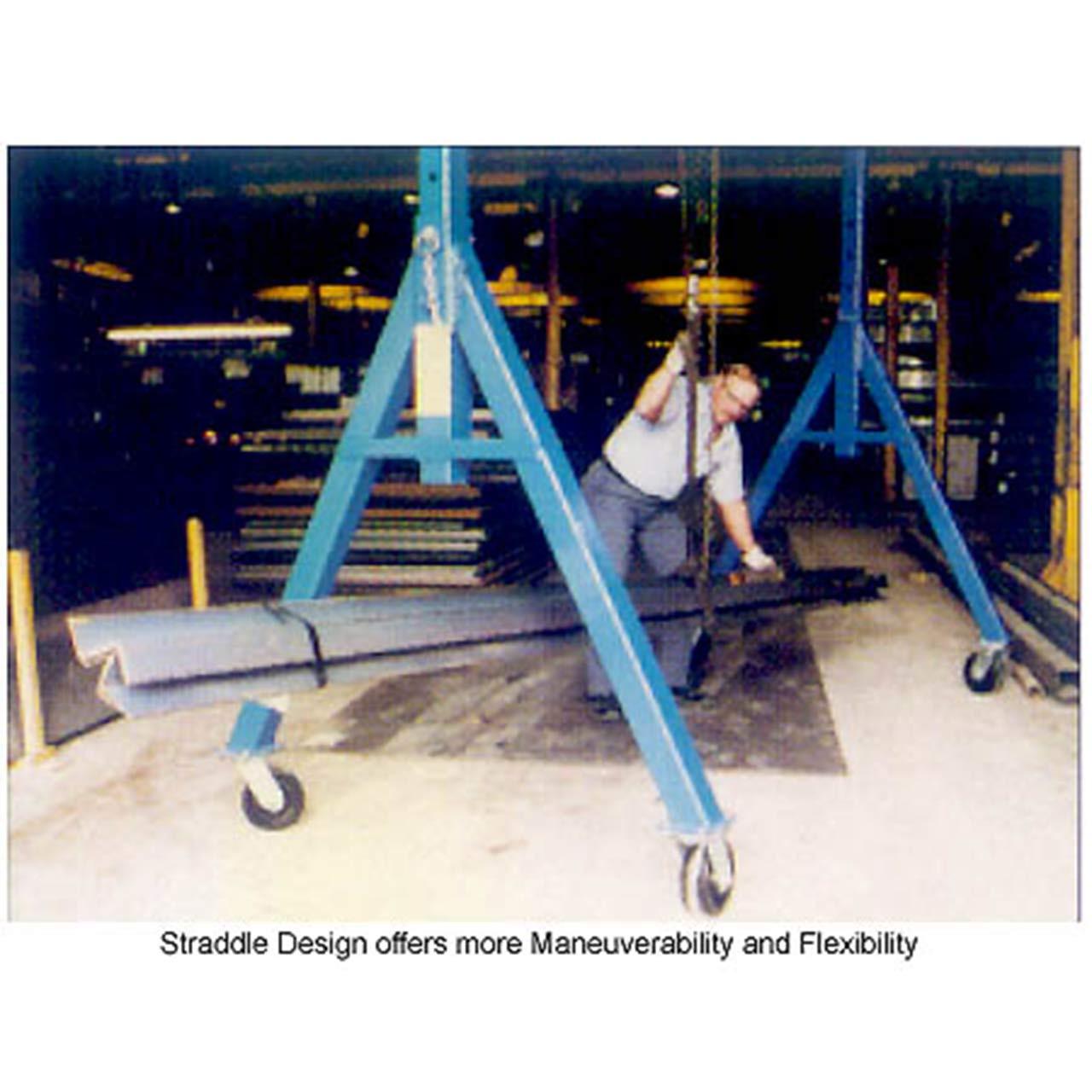 Adjustable Height Steel Gantry Crane In Action