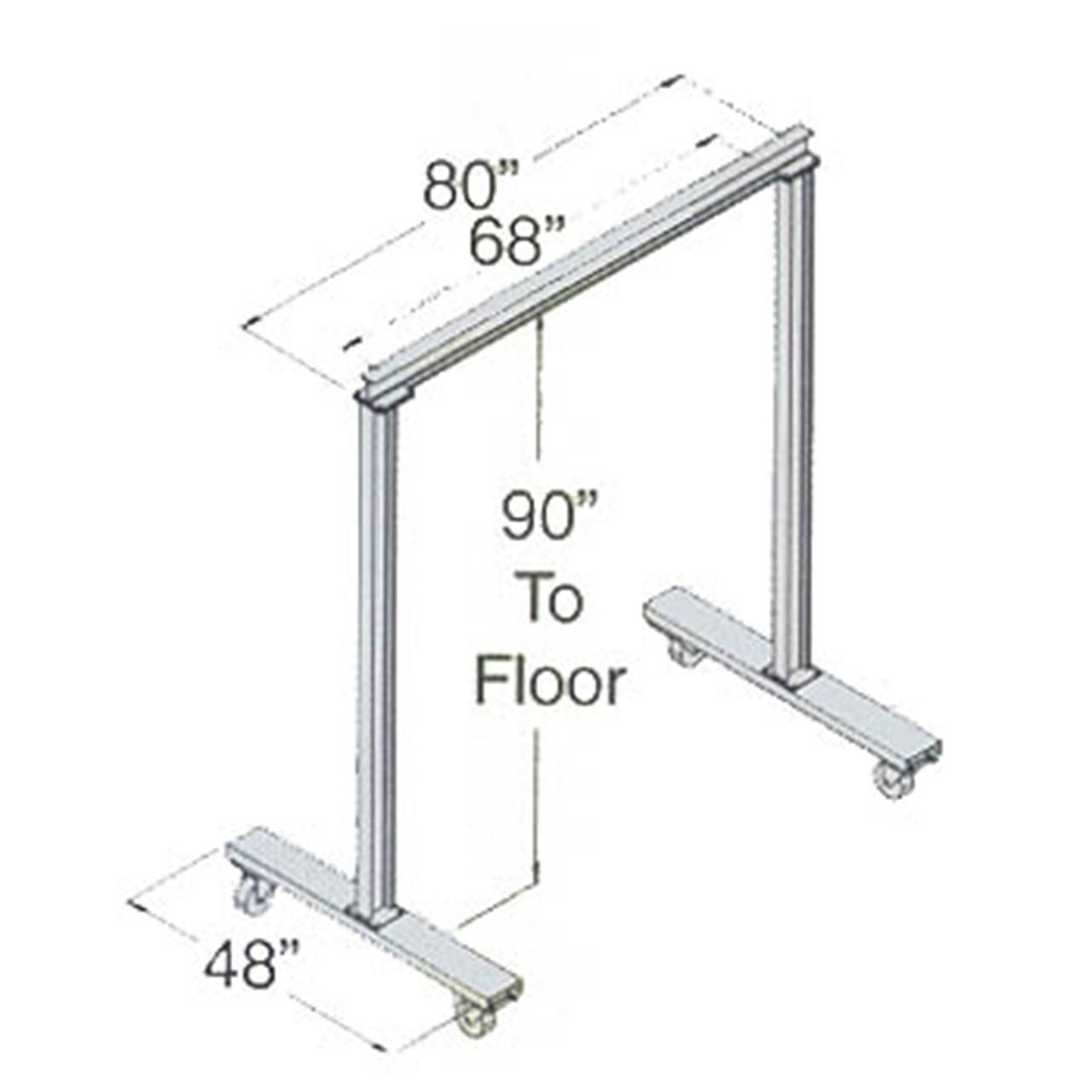 Work Area Portable Steel Gantry Crane Dimensions