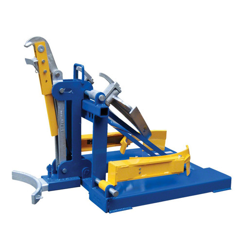 The deluxe combination fork mounted drum lifter includes attachments to lift any type of drum