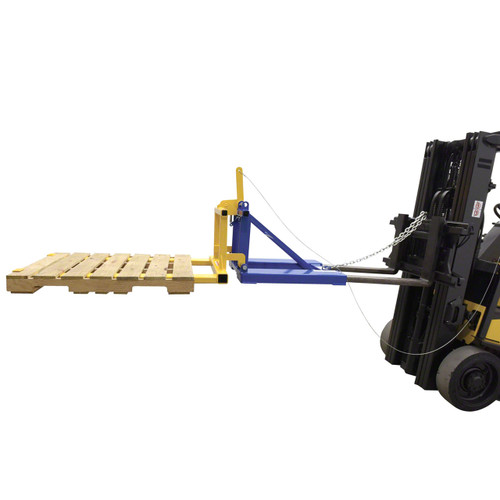 Forklift Mounted Pallet Dumper on forklift