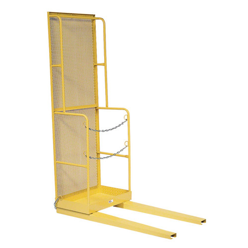 Narrow aisle lift platforms attach to fork trucks and can move in the tightest of spaces