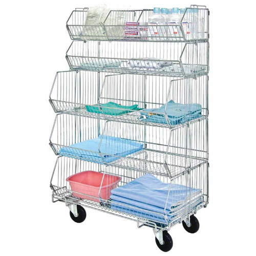 Modular stacking wire shelving complete mobile units offer an infinite variety of storage options
