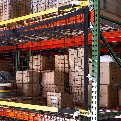 Keep products safe from falls with modular safety netting