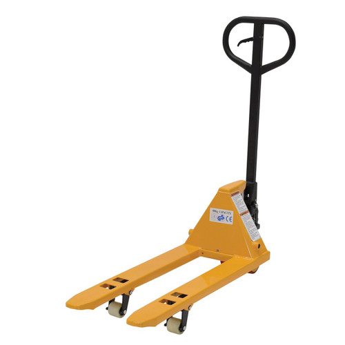 This MINI pallet truck is a smaller, more lightweight option for pallet jacks