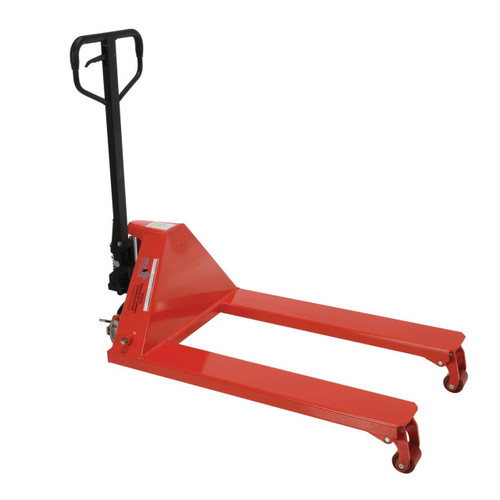 Vestil's wheel nose pallet jack front view