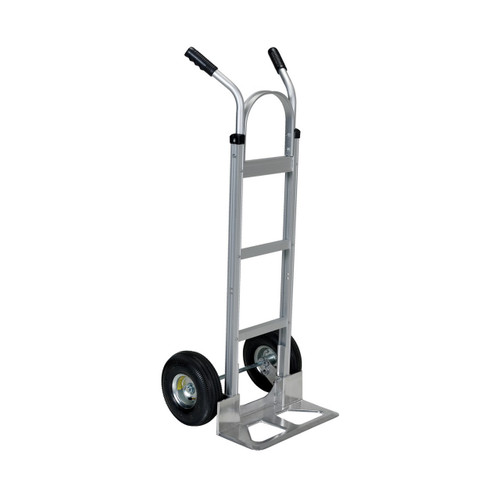 Dual Handle Hand Cart with Aluminum Noseplate Left View