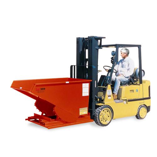 Self Dumping Hopper with Forklift Heavy Duty Model