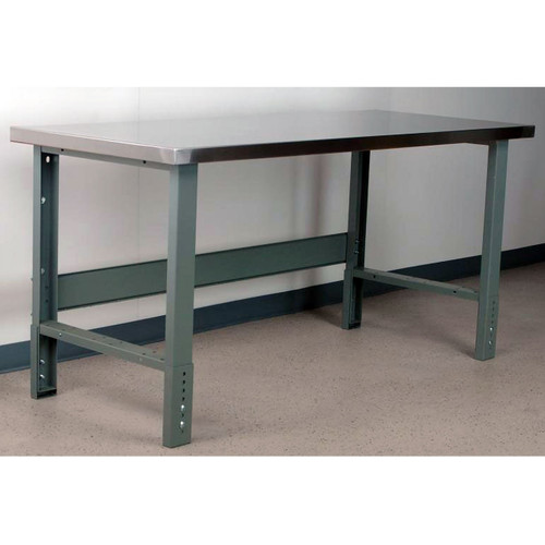 Manually Adjustable Height Workbench Stainless Steel Top