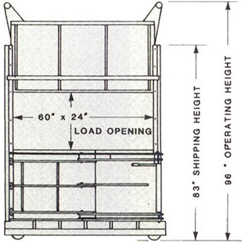 Low Profile Hydraulic Baler Dimensions Blueprint Front