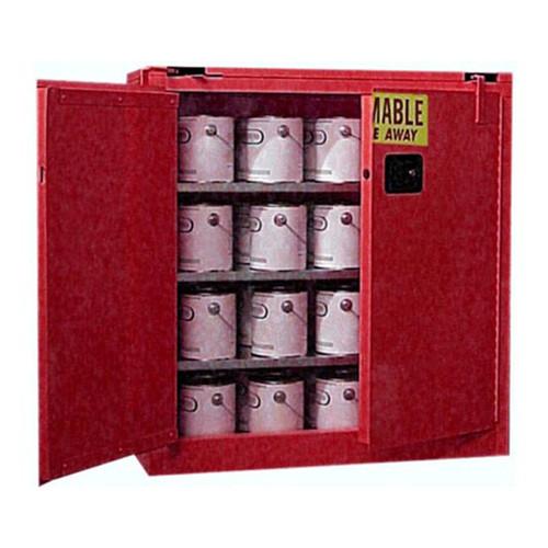 Flammable Paint and Ink Storage Cabinets Left Door Open