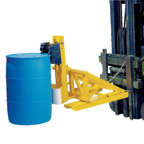 Single Fork Mounted Drum Lifter In Action