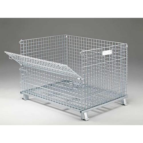 Folding Wire Basket Side View