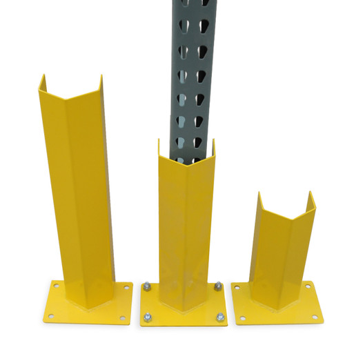 Post protectors to protect rack from impact and damage