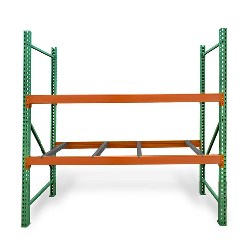 """42"""" depth pallet rack kit with pallet supports"""