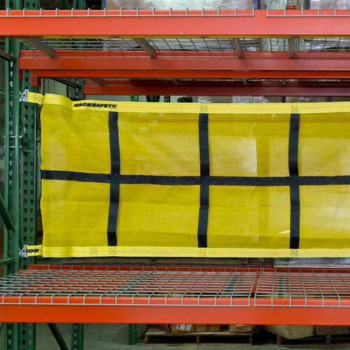 Pallet racking fixed safety nets
