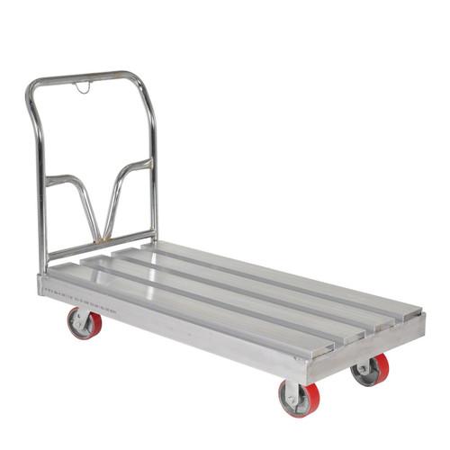 Standard duty aluminum channel platform truck right view