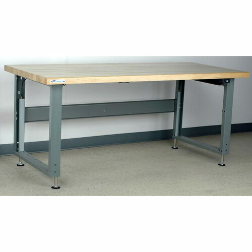 Electric Adjustable Height Workbench Maple Top