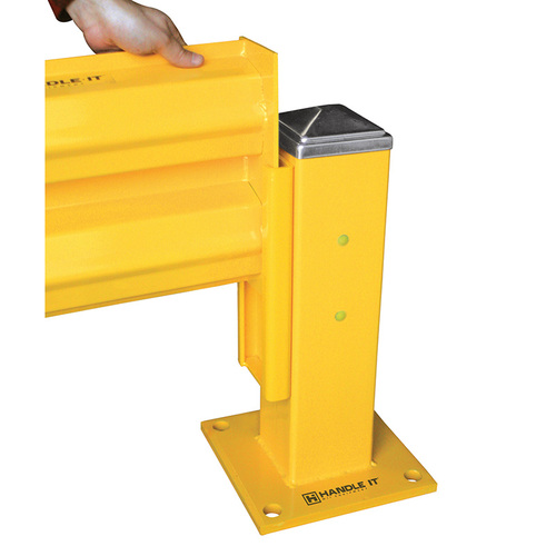 Handle It lift out adapters transform normal guard rail columns to slide out columns