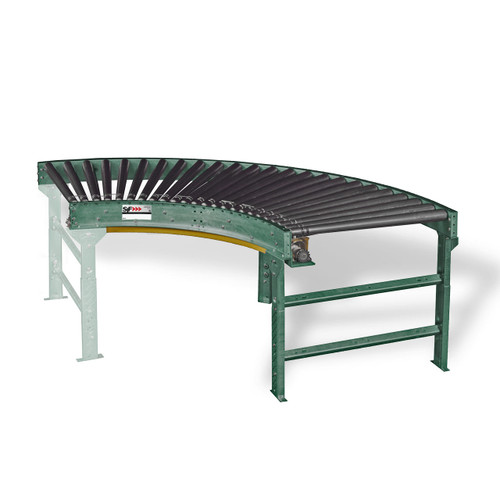 Lineshift conveyor curves are available in several widths with either a 45º or 90º turn