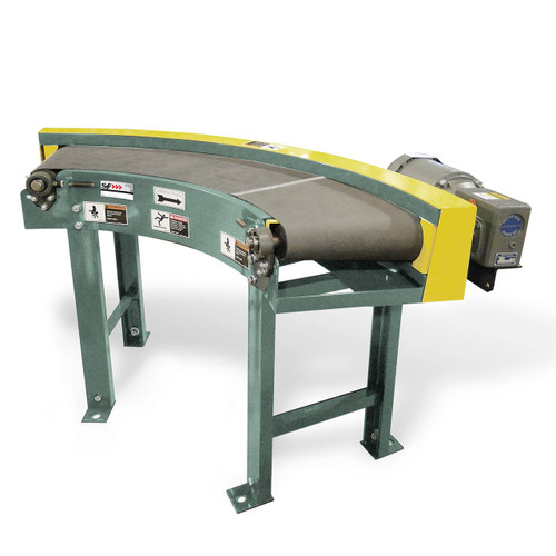 Easily navigate corners with these power belt conveyor curves
