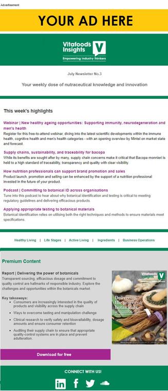 VFI E-Newsletter Advertisement Banner (Digital)
