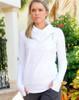 JoFit Ladies Jumper Tennis Jackets - Cosmopolitan/Lanai (White)