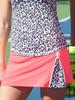 CLEARANCE JoFit Ladies & Plus Size Zippy Tennis Skorts - Tequila Sunrise (Coral Glow)