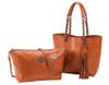 Sydney Love Ladies Reversible Tote Bag with Inner Pouch - Saddle Crocodile