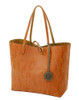 Sydney Love Ladies Reversible Tote Bag with Inner Pouch - Camel, Olive & Terracotta