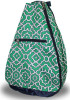 NTB Ladies Tennis Backpack - McKenna (Green & Navy Preppy)