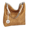 Sydney Love Ladies Reversible Hobo Bag with Inner Pouch - Creme, Caramel & Cement