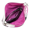 Sydney Love Ladies Reversible Hobo Bag with Inner Pouch - White, Fuchsia & Black