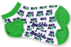 Ame & Lulu Ladies Meet Your Match Socks - Green White Nice Play
