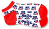 Ame & Lulu Ladies Meet Your Match Socks - Red White Nice Play