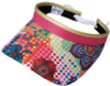 Glove It Ladies Print Tennis Visors (w/ Twist Cord) - Bloom