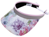 Glove It Ladies Print Tennis Visors (w/ Twist Cord) - Watercolor