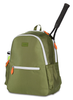 Ame & Lulu Ladies Courtside Tennis Backpacks - Army and Orange