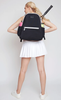 Ame & Lulu Ladies Courtside Tennis Backpacks - Black and Grey