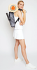 Ame & Lulu Ladies Drop Shot Pickleball Bags - Black Grunge